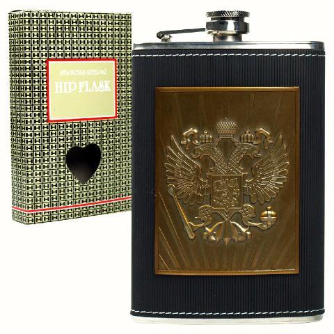 armoiries de la russie flasque russe alcool 240 ml en. Black Bedroom Furniture Sets. Home Design Ideas